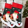 Father Christmas Stocking Plush Santa Felt Stocking