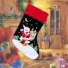 Christmas Stocking Navy & Wine Velvet 19 inch