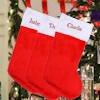 Traditional Christmas Stocking Personalised Fur Stocking