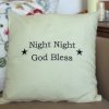 Embroidered Message Throw Cushion