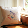 Swallows Embroidered Cushion Matthew Bible Quotation