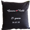 Personalised Anniversary Cushion Mr and Mrs Black Cushion