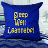 Royal Blue Message Cushion