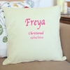 Embroidered Cushion Personalised Message Celebration Cushion Gift
