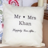 Bespoke Embroidered Cushions Happily Ever After Personalised Cushion