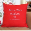 Personalised Cushion Entwined Hearts Embroidered Cushion