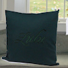 Personalised Cushion Dark Green Throw Cushion