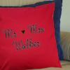 Wedding Anniversary Cushions Embroidered Name Cushion