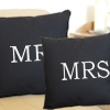 Mr and Mrs Cushions Wedding Couple Cushion Set