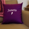 Personalised Cushions Flower Embroidered Cushion