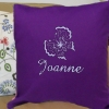 Embroidered Butterfly Throw Pillow