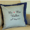 Personalised Anniversary Cushion Embroidered Monogram Cushion