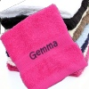 Personalised Flannel Fushia Pink Embroidered Face Cloth