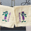 His and Hers Face Cloths Frog Embroidered Flannels Gift Set
