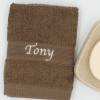 Personalised Flannel Brown Embroidered Face Cloth