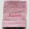 Personalised Flannel Dusky Pink Embroidered Face Cloth