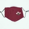 Personalised Face Mask Burgundy Cotton Flowers