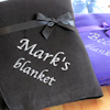 Personalised Blanket Black Snuggle Fleece Throw