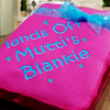 Fleece Blanket Throw Scatter Hearts