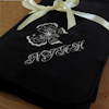 Personalised Fleece Blanket Throw Black