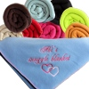 Personalised Blanket Fleece Throw Sky Blue
