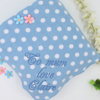 Polka Dot Fleece Blue and White