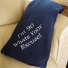 Personalised Fleece Throw Embroidered Navy Blanket