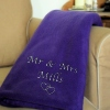 Bespoke Embroidered Purple Blanket