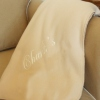 Personalised Throw Embroidered Beige Throw Blanket