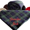 Personalised Throw Tartan Fleece Blanket
