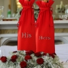 Personalised Bottle Bag Embroidered Wedding Anniversary Gift Bag