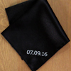 Pocket Square Personalised Black Satin Handkerchief