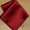 Burgundy Pocket Square Personalised Satin Hankderchief