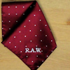 Pocket Square Personalised Burgundy Pin Dot Satin Handkerchief