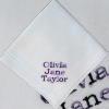 Childrens Message Embroidered Handkerchief