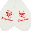 Personalised Christmas Handkerchiefs Redwork Stocking Hankies