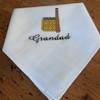 Embroidered Handkerchief Cornish Mine House Cotton Hanky
