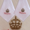 Personalised Handkerchiefs Royal Crown Motif Hankies