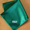 Pocket Square Personalised Green Satin Handkerchief