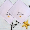 Dad Handkerchiefs Star Embroidered Personalised Hanky Set