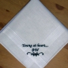Personalised Handkerchief Mens Message Embroidered Handkerchief