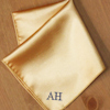 Pocket Square Personalised Gold Satin Handkerchief