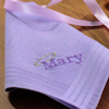 Personalised Ladies Purple Hanky