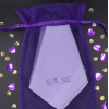 Halo Embroidered Hankderchief Personalised Ladies Purple Hanky