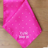 Pink Pin Dot Satin Handkerchief