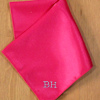 Pocket Square Personalised Hot Pink Satin Handkerchief