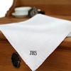 Irish Linen Corded Trim Monogrammed Hankie