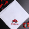 Childs Handkerchief Car Embroidered Hanky