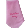 Ladies Handkerchief Personalised Pink Cotton
