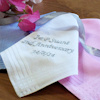 Personalised Ladies Handkerchief Embroidered Message Handkerchief